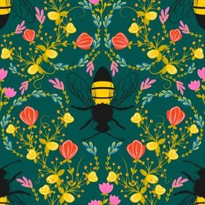 Bee Garden  - deep green
