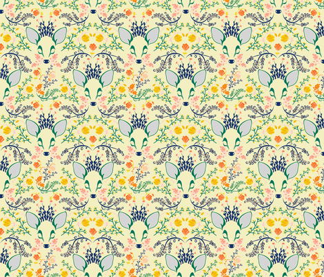 Woodland Deer  fabric by lapetitelecour on Spoonflower - custom fabric