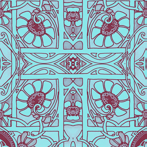 A Tisket A Tasket, Some Kind of Flower Basket fabric by edsel2084 on Spoonflower - custom fabric