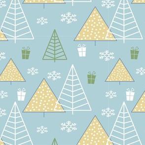 Christmas Trees aqua