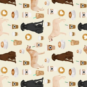 Labrador Retriever coffee fabric yellow black and chocolate labs cream