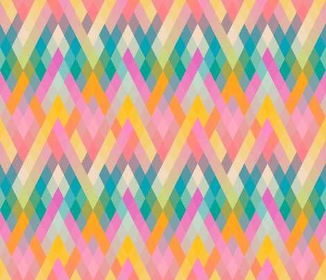 Mountain Sunrise fabric by byre_wilde on Spoonflower - custom fabric
