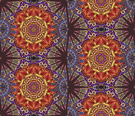 Shattered mandala  fabric by beesocks on Spoonflower - custom fabric