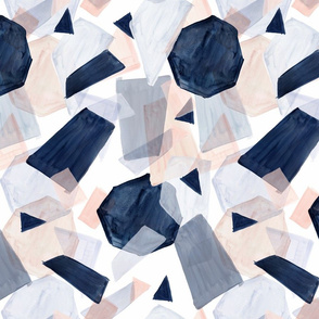 geo shapes navy blush