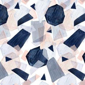geo shapes navy blush