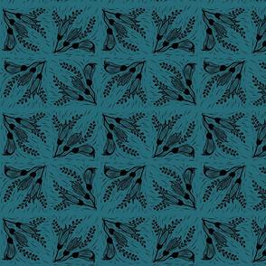 Kowhai 3 dark turquoise black