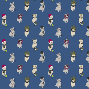 Fabric cats 1 mid blue
