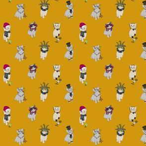 Fabric cats 1 honey