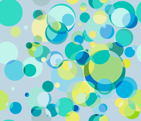 circles blue green lg fabric by ghouk on Spoonflower - custom fabric