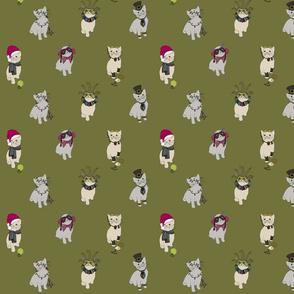 Fabric cats 1 scrub