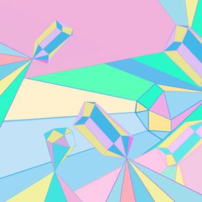 Pastel crystal shine
