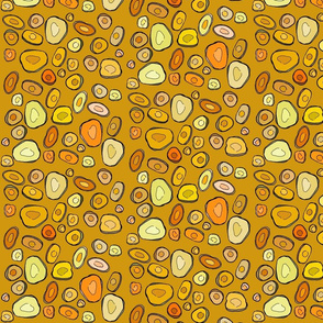 Rhizome Polka Dots bright honey