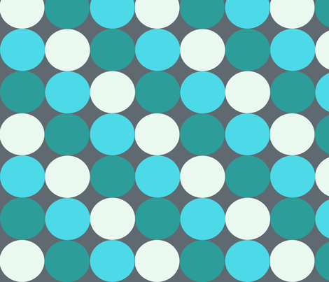 circles (blue) fabric by randi_originals on Spoonflower - custom fabric