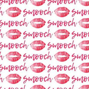 smooch - dark pink - kissy lips fabric