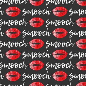 smooch - red on grey