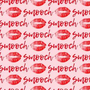 smooch - red on pink