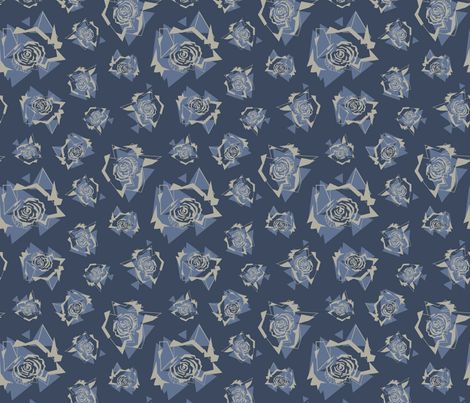fragmented_floral fabric by krista_power on Spoonflower - custom fabric
