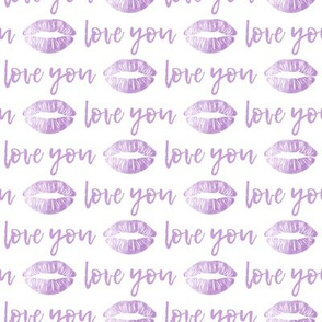 love you - purple