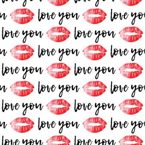 love you - red and black - kiss