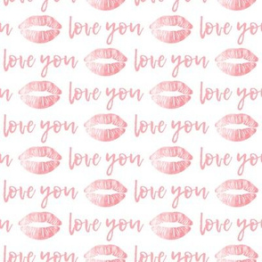 love you - pink - kiss