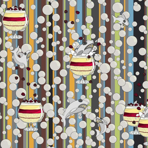 Trifle Shark on Bubbles repeat 1 stripe