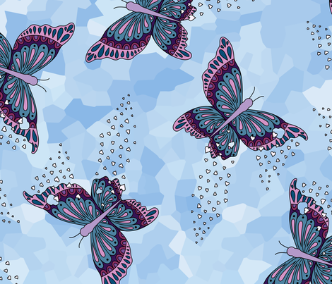 Fragmentation in the Wind fabric by moonpuff on Spoonflower - custom fabric