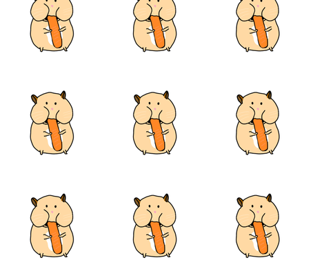 Hungry Hamster fabric by ayaminlove on Spoonflower - custom fabric
