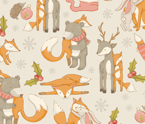 a very beary christmas fabric by mizzlisa on Spoonflower - custom fabric