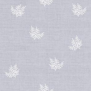 Feathery Fern, Dove Grey