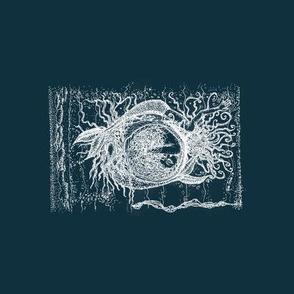 Mermaid_Trio-WhiteOnTeal
