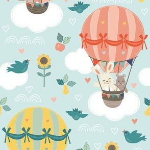 Up and Away - Pets in Hot Air Balloons