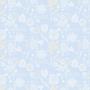 placid blue floral