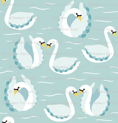 swans on mint