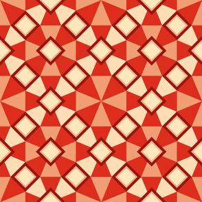 quilt in red, deluxe