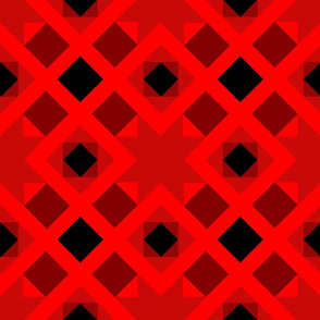 bright red quilt