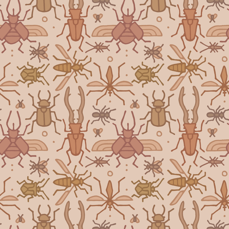 Insect Party fabric by moccolo on Spoonflower - custom fabric