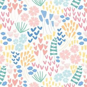 Dainty Wildflowers in Pastels