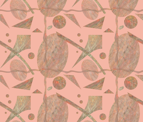 Wavy Peach Abstract  08  2534-1 fabric by ej_molnar on Spoonflower - custom fabric
