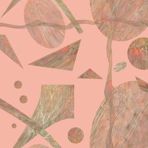 Wavy Peach Abstract  08  2534-1