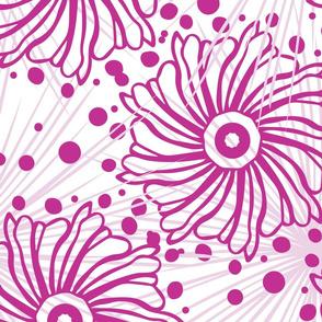 Pink Geometric Floral Pattern