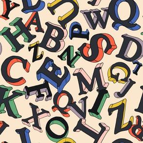 Rainbow Letters (large)