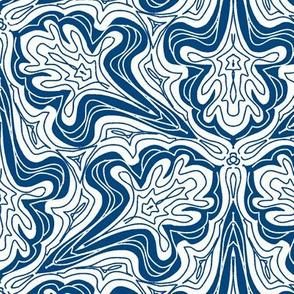 Blue swirlies