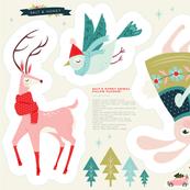 Cut and Sew Christmas Animal Plushie