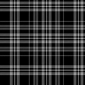 Clergy grey and black tartan, 6""