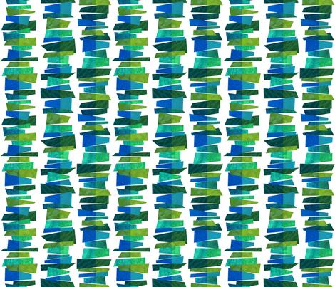 Broken Stripes - Green Fragmentation fabric by run_quiltgirl_run on Spoonflower - custom fabric