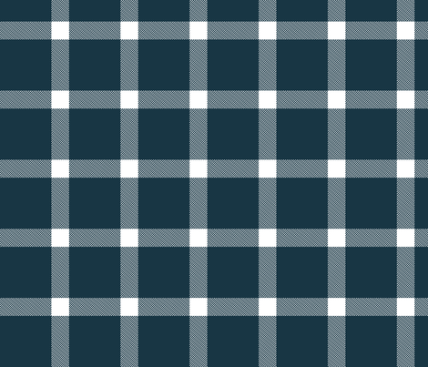 Buffalo Check Gingham Navy Blue Large fabric by acdesign on Spoonflower - custom fabric