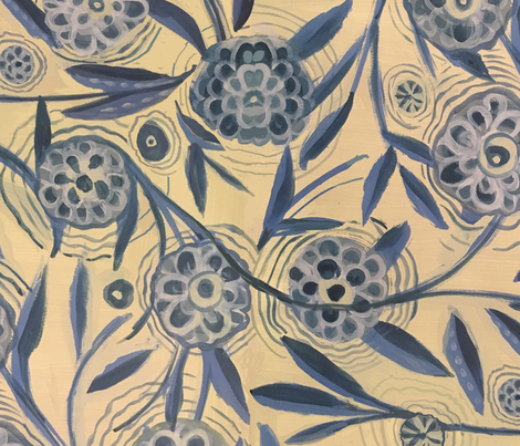 Lotus Spin fabric by laurie_olinder on Spoonflower - custom fabric