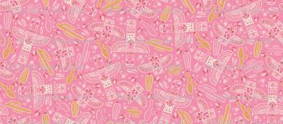 Tribal totem pink