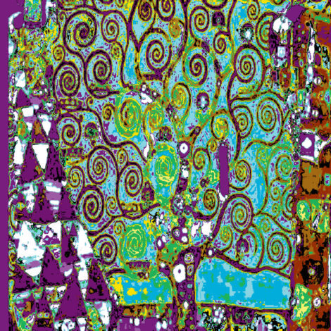 Tree of LIfe - Gustav Klimt fabric by feralartist on Spoonflower - custom fabric