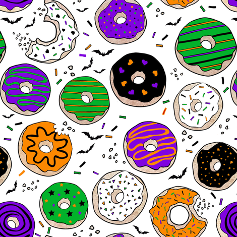 Halloween Donuts  fabric by lil'faye on Spoonflower - custom fabric